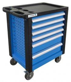 Тележка инструментальная 6 ящиков-усиленный пластиковый верх HOEGERT