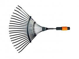 Грабли веерные мет. для листьев FISKARS QuikFit (135201) (22 гибких зуба из карбона черенки QuikFit: 1000666, 1000664, 1000661)