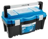 Кейс пластиковый для инструментов 22-съемный органайзер-металлические петли HOEGERT