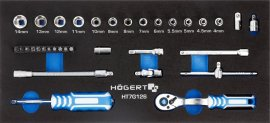 Набор инструментов с трещоткой 1-4-34 шт-ложемент EVA HOEGERT