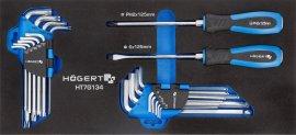 Набор отверток-ключи HEX и TORX 20 шт-ложемент EVA HOEGERT