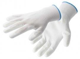 HOEGERT Перчатки рабочие полиуретановые, белые, размер 10, 12 пар