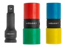 Набор двухсторонних ударных головок 17-19-21-22 мм и ударный удлинитель 1-2-CrMo HOEGERT